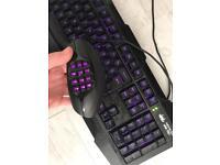 Logitech g920 gaming mouse & nemesis pro keyboard