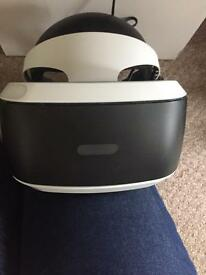 PlayStation virtual reality headset with camera and game