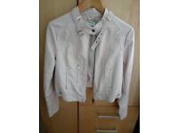 BIKER Jacket, very trendy in light beige/soft pink shade