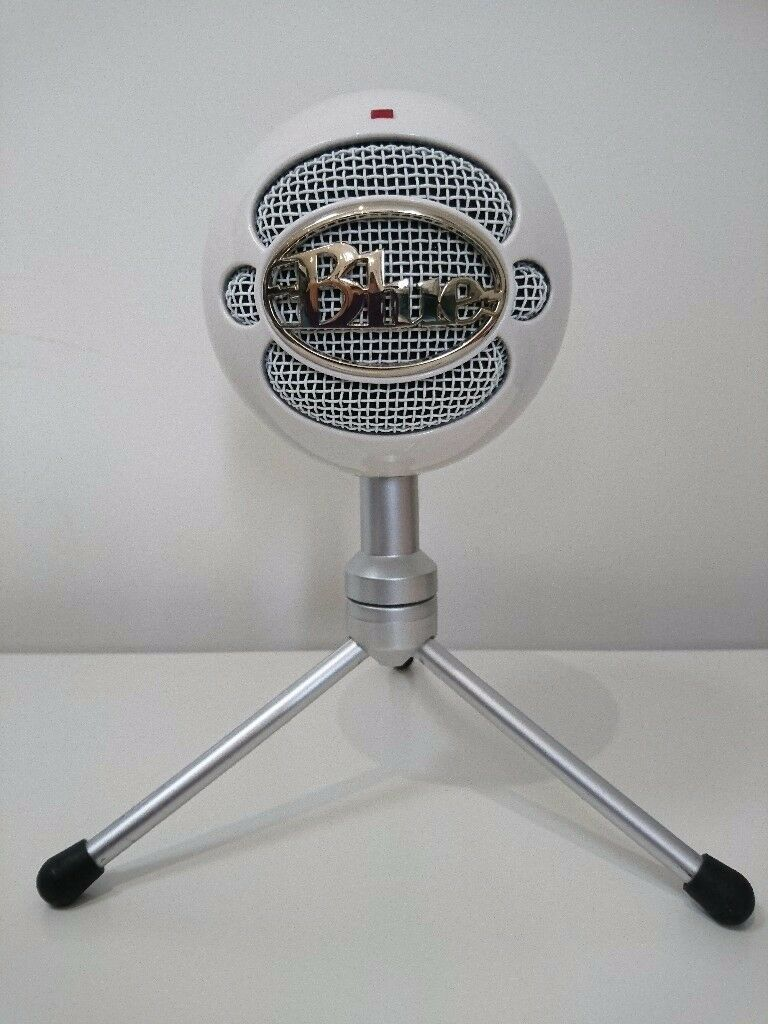 Used Blue Snowball iCE USB Microphone - White