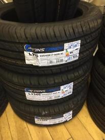 225/45/17 new tyres