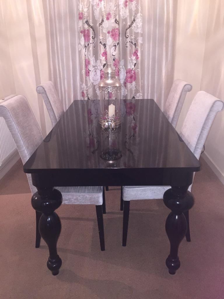 Next black gloss coffee table table designs next bardot black high gloss furniture set dining table 4 chairs geotapseo Images