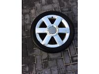 Audi A2 wheel and tyre
