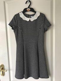 Girl's M & S polka dot dress age 10-11