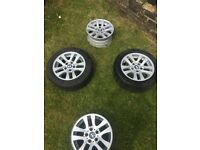 BMW 3 series car tyres with alloys