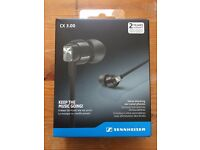Sennheiser CX 3.00 Noise Blocking Ear Canal Phones Amazing Sound VGC Boxed