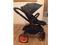 Icandy peach dc black limited edition designer pram stroller