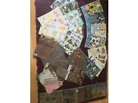 Card making job lot and cuttlebug