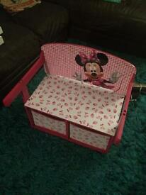 Official Disney mini mouse convertible desk/bench