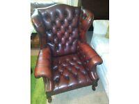 chesterfield queen anne chair