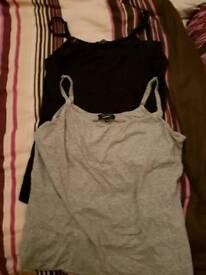 New look maternity/breast feeding vest tops size 14