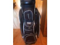 IZZO TRANSPORTER GOLF TROLLEY BAG GOOD CONDITION 12 POCKETS 14 WAY CLUB DIVIDERS