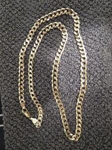 10k curb link gold chain 32.2grams