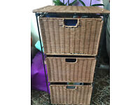 Wicker drawer and bedside table only £15