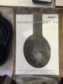 Bose QC35 noise cancellation headphones (Black) - mint condition & under warranty