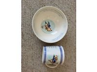 Peter Rabbit bowl and cup Wedgewood