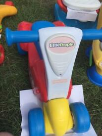 Fisher price little people ride to scoot