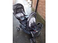 Sit and stand Double pram