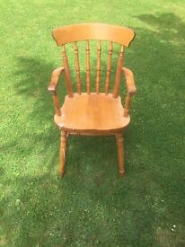 Pine Calver Chair/ Excellent Condition/ Shabby Chic