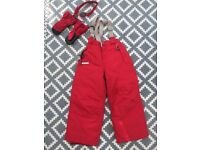 Ski Trousers, Mittens and Glasses for 5yr old - great condition