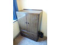 Small mahogany wardrobe with drawers