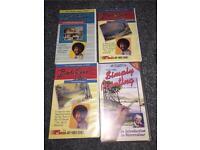 Painting video tapes (Bob Ross & Franke Clarke)