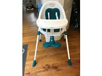Mamas and papas teal bop high chair