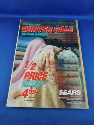 SEARS CANADA VALUE CATALOG BEST EVER WINTER SALE 1988 PURSES SHOES