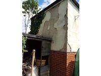 Need back of garage rendering in oakwoods Leeds 8