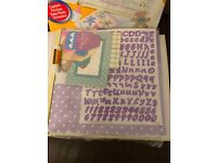 Complete kit to make your own baby scrapebook, new , never used