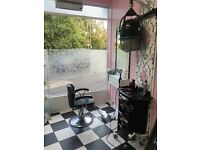 RENT A CHAIR IN OUR HAIR AND BEAUTY SALON IMMEDIATELY FROM 60P/W- 1ST WEEK HALF PRICE