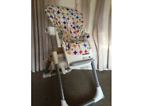 High Chair, Joie Baby, pre owned v good condition, adjustable height, seat and footrest, easy clean