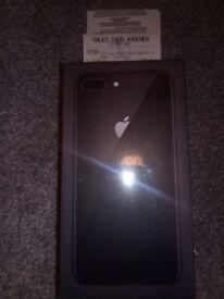 IPhone 8 Plus, Space Grey, 64gb, new, unlocked