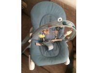 Baby bouncer (chicco hoopla blue)