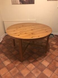 Ikea extendable kitchen dining table with 6 chairs