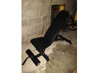Commercial strength shop weights FID bench