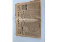 Financial Times - 31/12/74 original copy