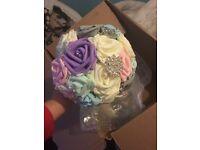 3 bridesmaids bouquets, 20 button holes. Pastel colours