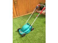 Bosch rotak lawnmower and easytrim edge cutter