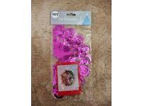Pink & Silver Foil Ball Shaped Christmas Ceiling Hanging Decoration Xmas