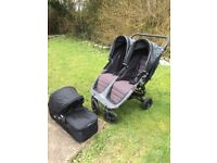 Baby Jogger City Mini GT double buggy with Carrycot