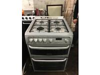 Cannon silver gas cooker 60cm