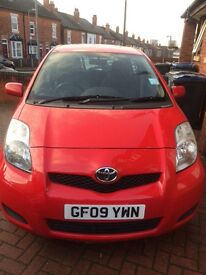 Toyota Yaris red 1.3 petrol with 6gears and 30£ road tax only