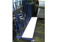 Sheet material trolley A frame