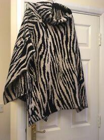 Brand new no tags zebra poncho- from TU