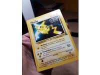 RARE PROMO BLACK STAR POKEMON CARD PIKACHU