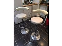 Two Cream Bar Stools for sale