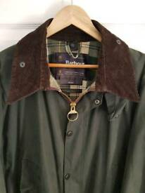 Green Waxed Barbour Jacket 48""