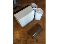 FOR SALE : Nearly new Cotton Roller Towel Cabinet & Cotton rolls for toilets / Offices