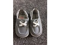 Baby Boutique grey boat style shoe 6-12months £3